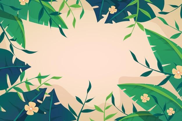 Papel de parede de flores tropicais para zoom Vetor grátis