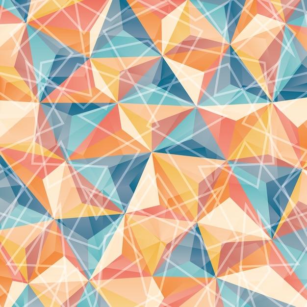 Papel de parede de geometria ou fundo, eps10 de ilustração vetorial Vetor Premium