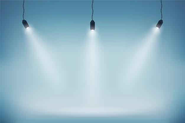 Papel de parede de luzes do ponto Vetor grátis