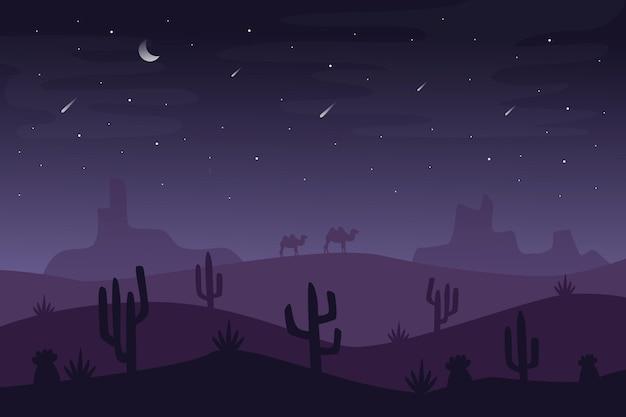 Papel de parede de paisagem do deserto para videoconferência Vetor grátis