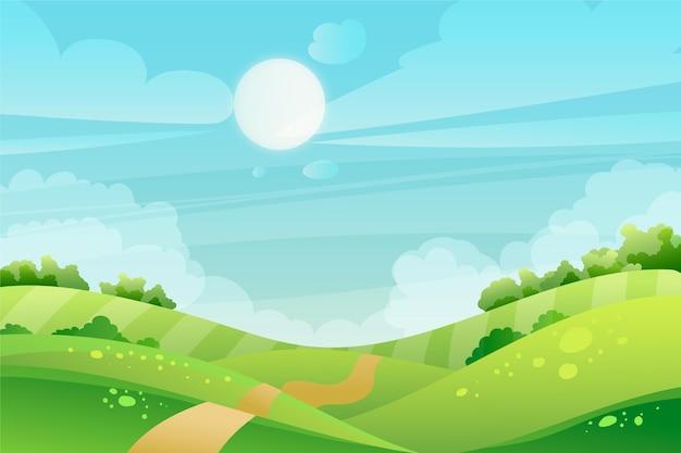 Papel de parede de paisagem natural para videoconferência Vetor grátis