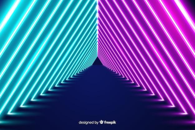 Papel de parede de palco de luzes de néon Vetor grátis