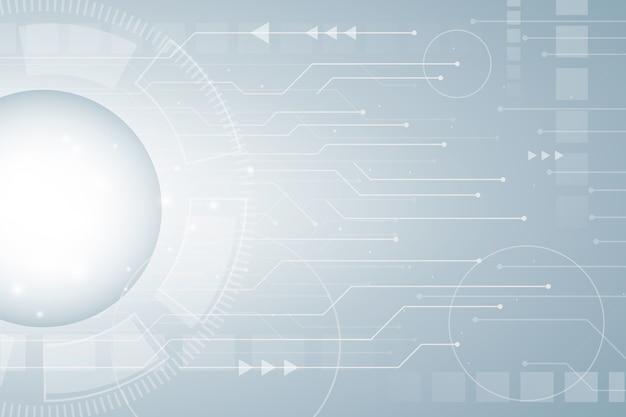 Papel de parede de tecnologia futurista Vetor Premium