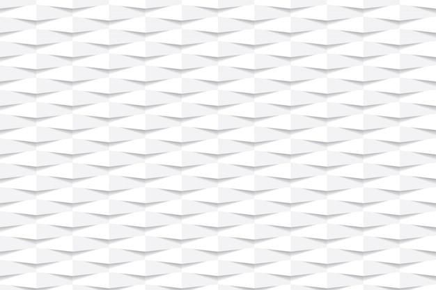 Papel de parede elegante fundo geométrico hexagonal branco. Vetor Premium