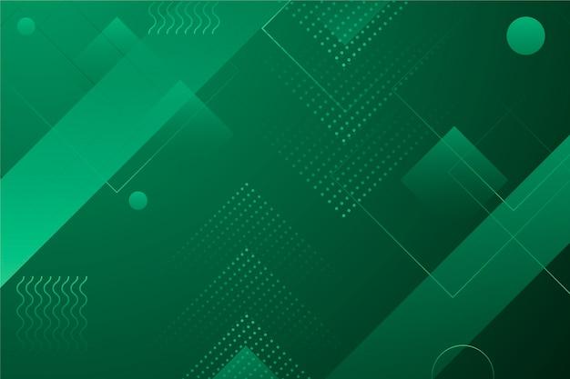 Papel de parede geométrico abstrato verde Vetor grátis
