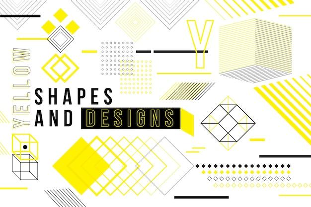 Papel de parede geométrico de design gráfico Vetor grátis