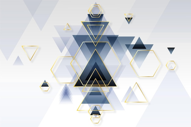 Papel de parede geométrico gradiente abstrato Vetor grátis