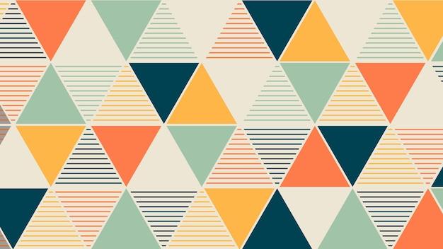 Papel de parede geométrico Vetor grátis
