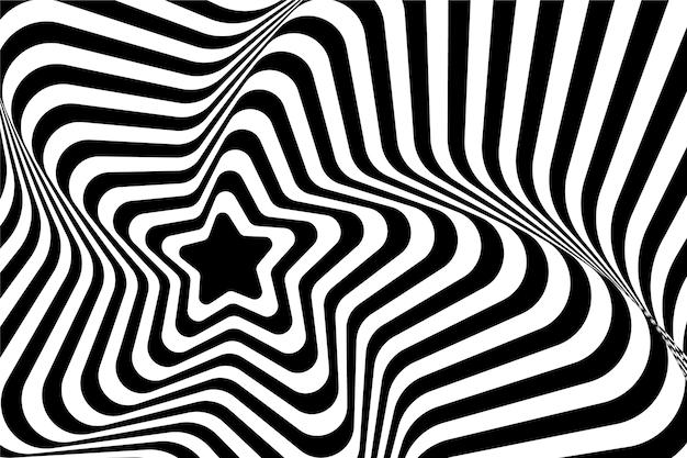 Papel de parede ilusão de ótica psicodélica Vetor grátis