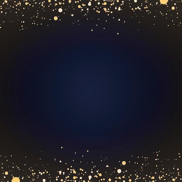 Papel de parede mínimo com partículas decorativas de glitter dourados Vetor grátis