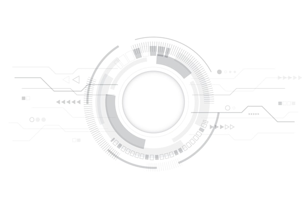 Papel de parede moderno branco tecnologia Vetor grátis