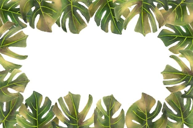 Papel de parede mural tropical Vetor grátis