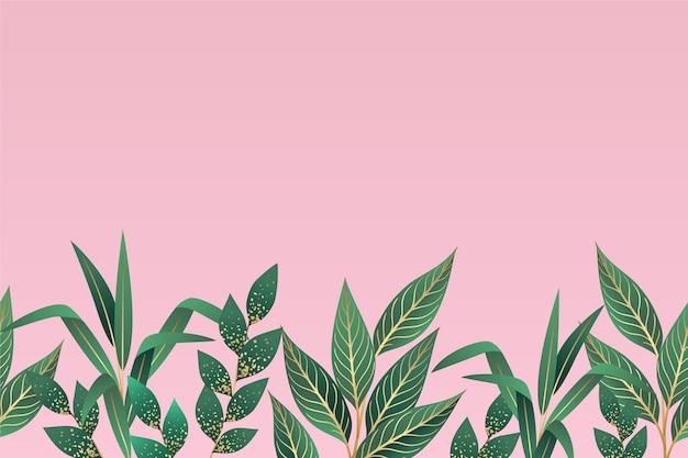 Papel de parede mural tropical Vetor Premium