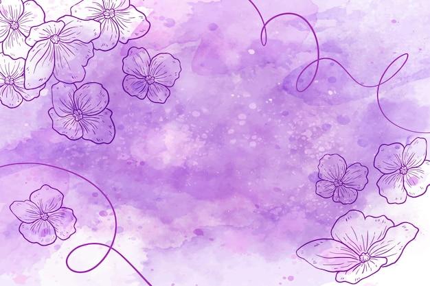 Papel de parede pastel em pó com elementos botânicos Vetor grátis