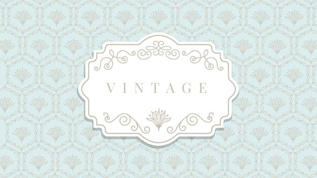 Papel de parede vintage ornamental Vetor grátis