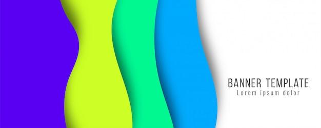 Papel elegante abstrato cortado banner moderno modelo Vetor grátis