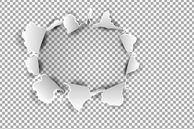 Papel rasgado realista com bordas rasgadas. modelo de banner para web e impressão, promoção de venda, publicidade, apresentação. conceito de papel rasgado danificado Vetor Premium