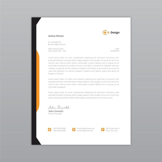 Papel timbrado abstrato corporativo Vetor Premium