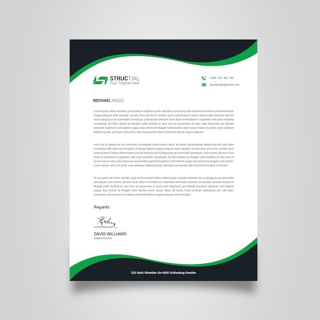 Papel timbrado corporativo Vetor Premium