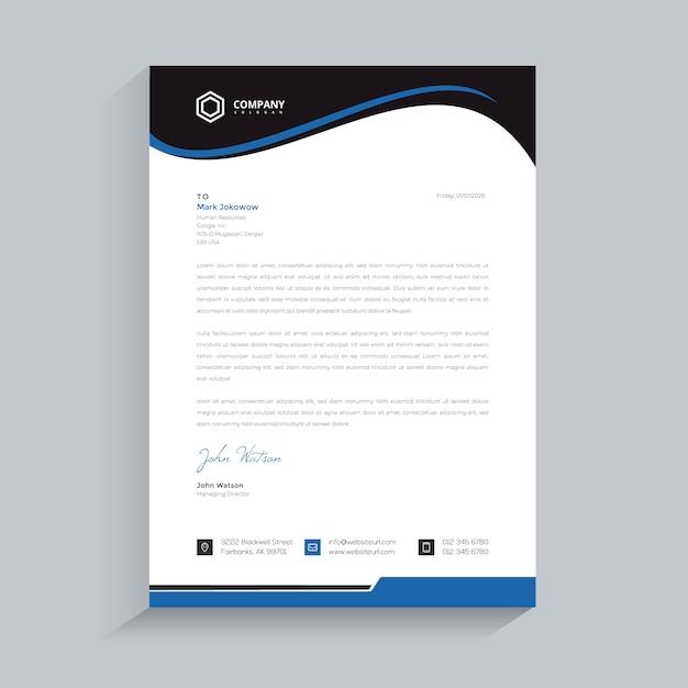 Papel timbrado da empresa moderna Vetor Premium