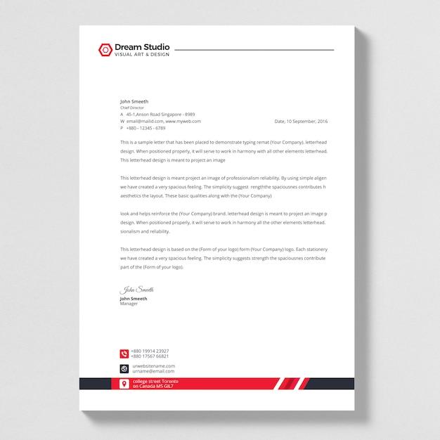 Papel timbrado de empresa moderna Vetor Premium
