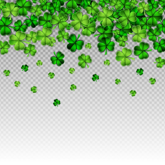 Papel verde, corte, são, patrick, dia Vetor Premium