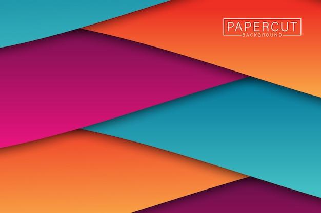 Papercut abstrato Vetor Premium