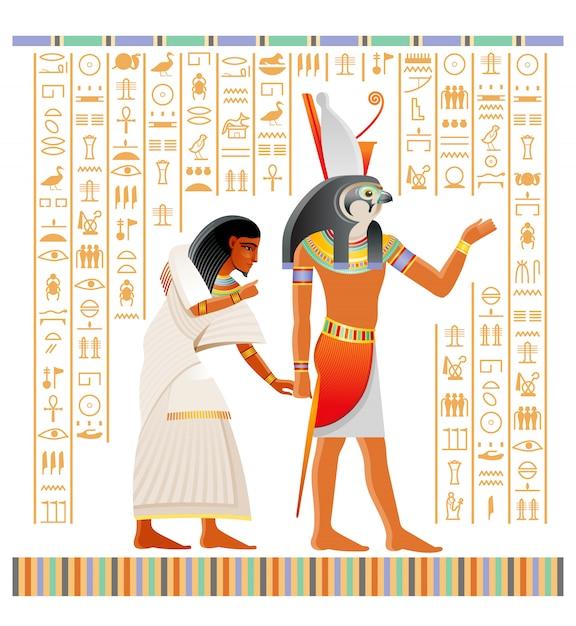 Papiro egípcio antigo do livro dos mortos com ritual da