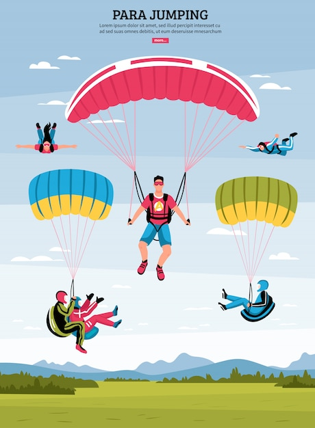 Para ilustração de salto Vetor grátis