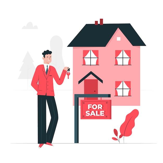 Para ilustração do conceito de venda Vetor grátis