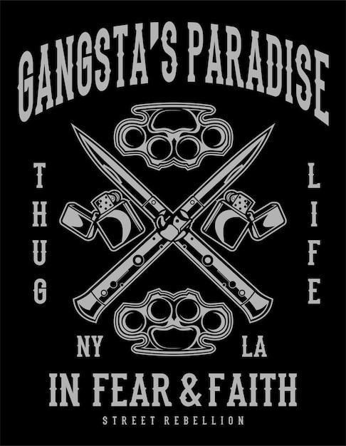 Paraíso dos gangsters Vetor Premium