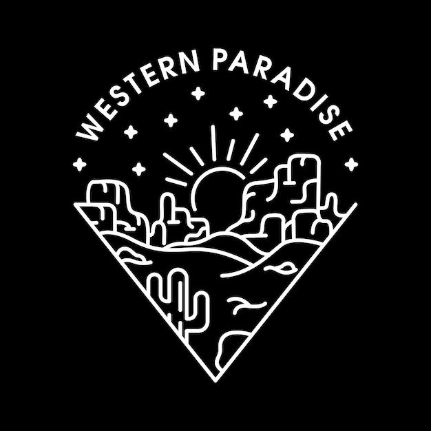 Paraíso ocidental Vetor Premium