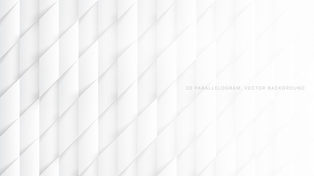 Paralelogramos 3d padrão abstrato branco Vetor Premium
