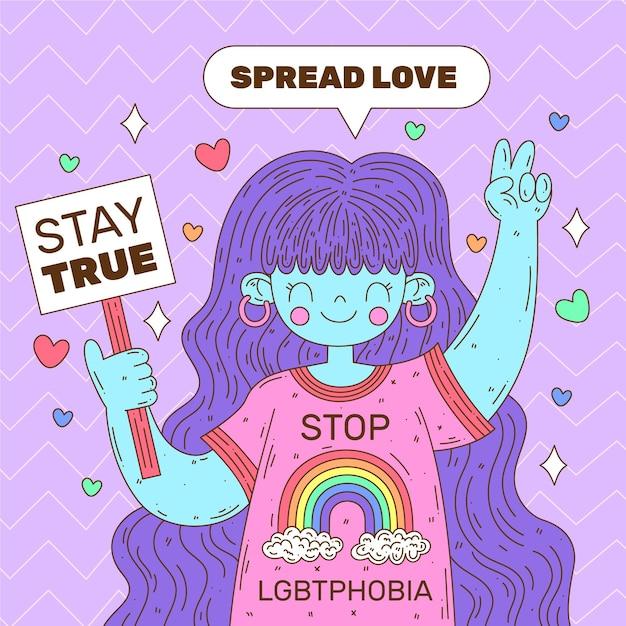 Pare a homofobia Vetor grátis