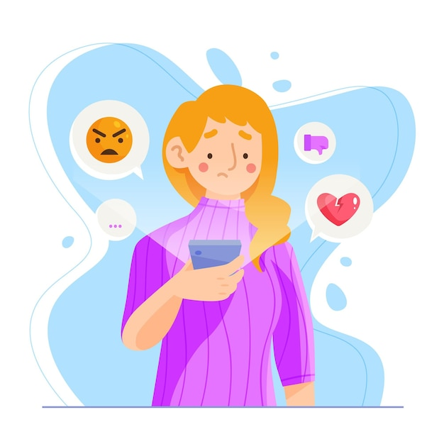 Pare o conceito de bullying Vetor grátis