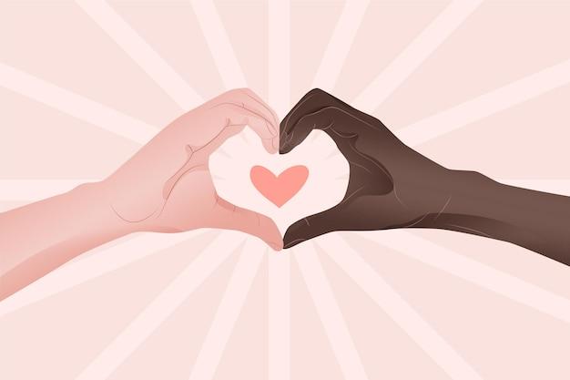 Pare o conceito de racismo Vetor grátis