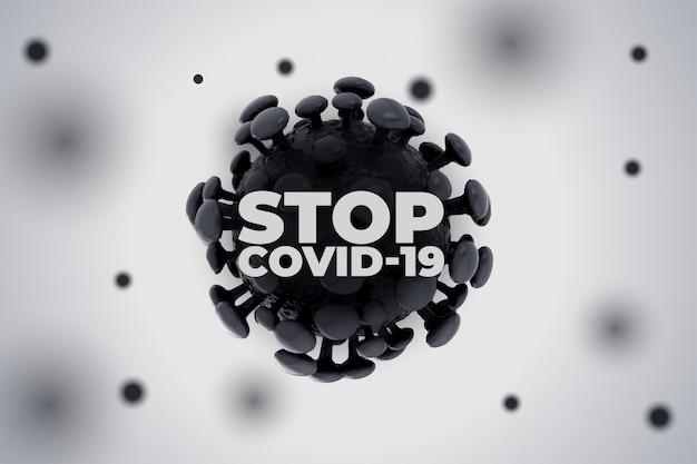 Pare o novo coronavírus covid19 de espalhar o fundo Vetor grátis