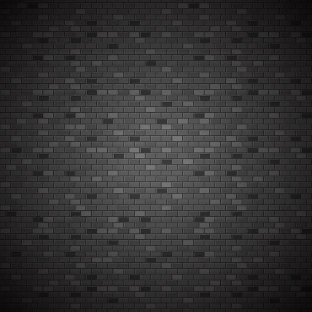 Parede de tijolo escuro Vetor Premium