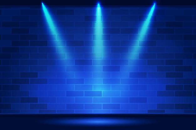 Parede de tijolos com fundo de luzes pontuais Vetor grátis