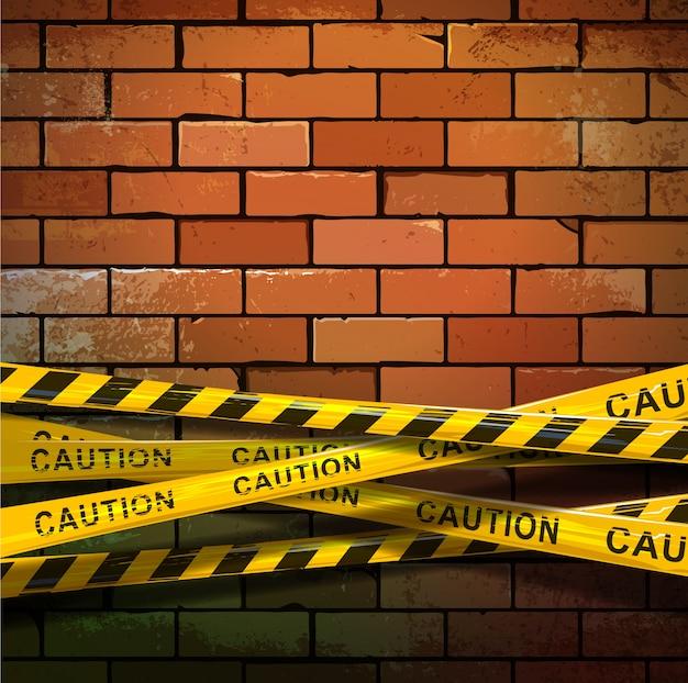Parede de tijolos em construção Vetor grátis
