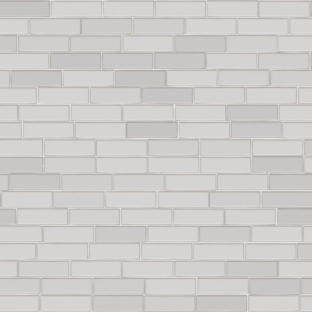 Parede de tijolos fundo branco Vetor grátis