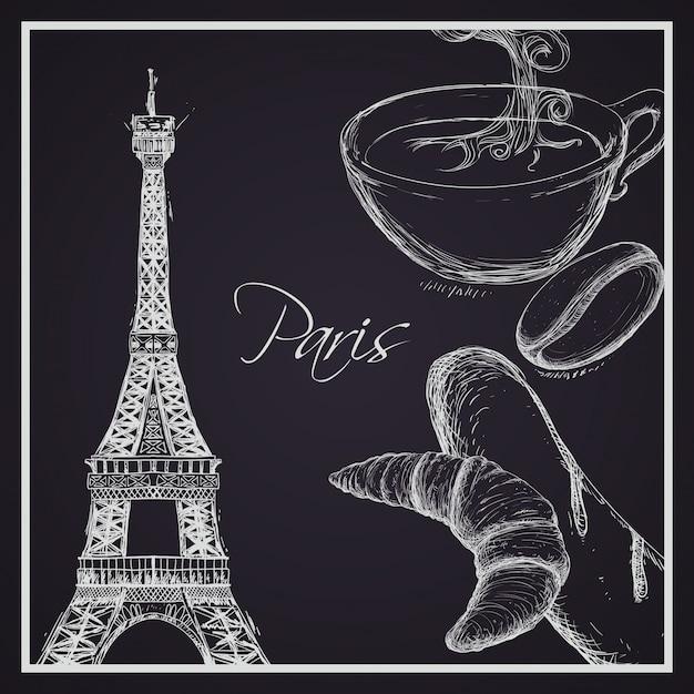 Paris design, ilustração vetorial. Vetor Premium
