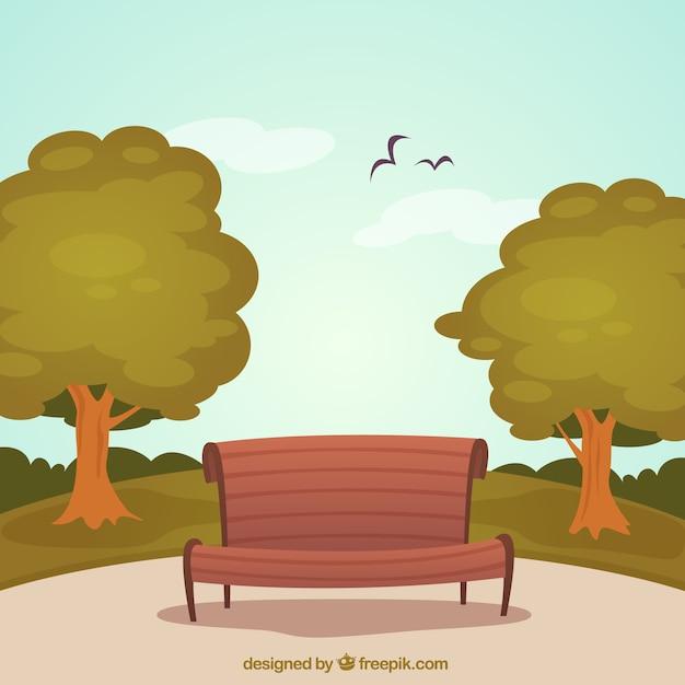 banco de jardim vetor:Park Bench Vector