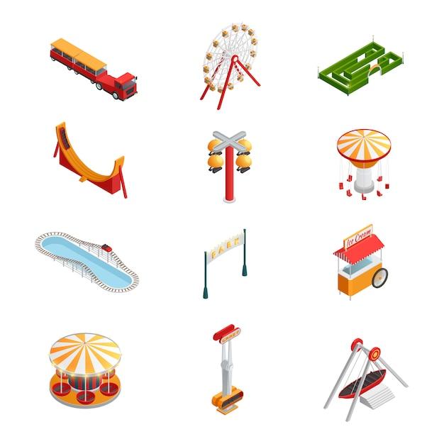 Parque de diversões para crianças Vetor grátis