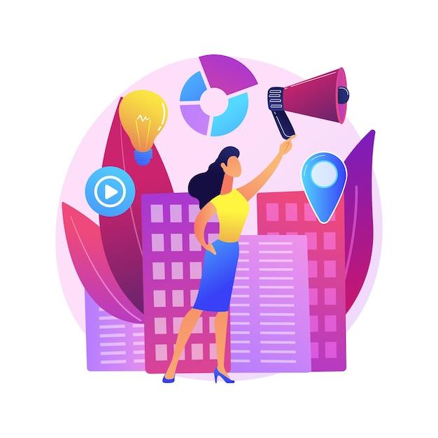 Participação de mulheres ilustração do conceito abstrato. direitos de igualdade de gênero, participação política das mulheres, líder palestrante, democracia, apresentação bem-sucedida Vetor grátis