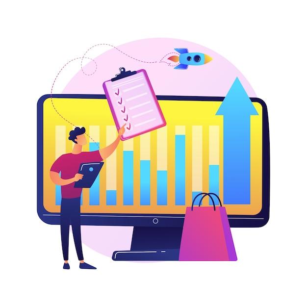 Participação nos negócios, cálculo de dividendos, relação percentual. tamanho da contribuição, valor do depósito, contabilidade e auditoria. personagens de desenhos animados para acionistas Vetor grátis