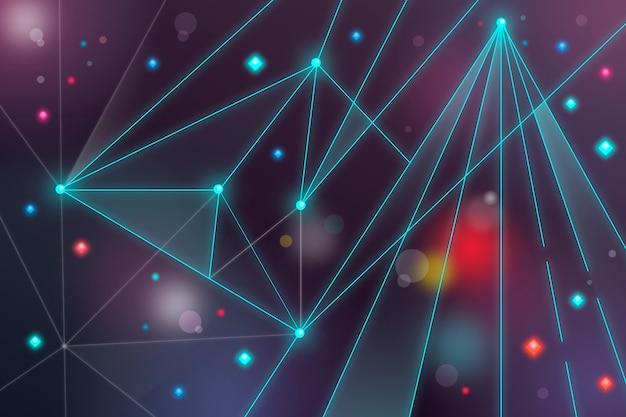 Partícula de tecnologia realista abstrata de fundo Vetor grátis