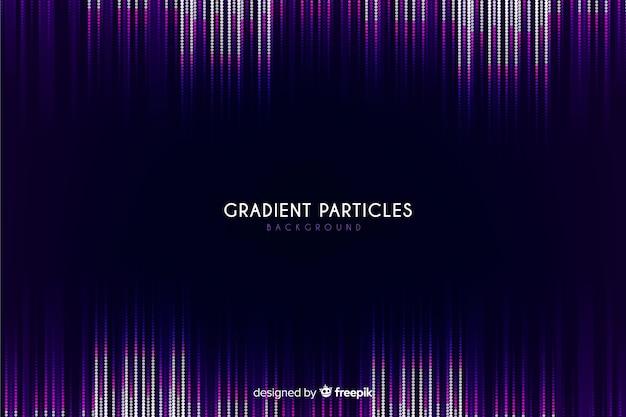 Partículas de gradiente fundo escuro Vetor grátis