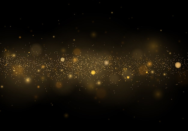 Partículas de poeira mágica cintilante. abstrato com efeito bokeh Vetor Premium