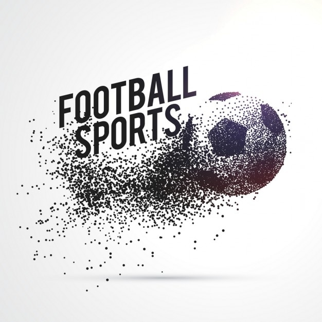Partículas que formam o futebol de forma esportes fundo Vetor grátis